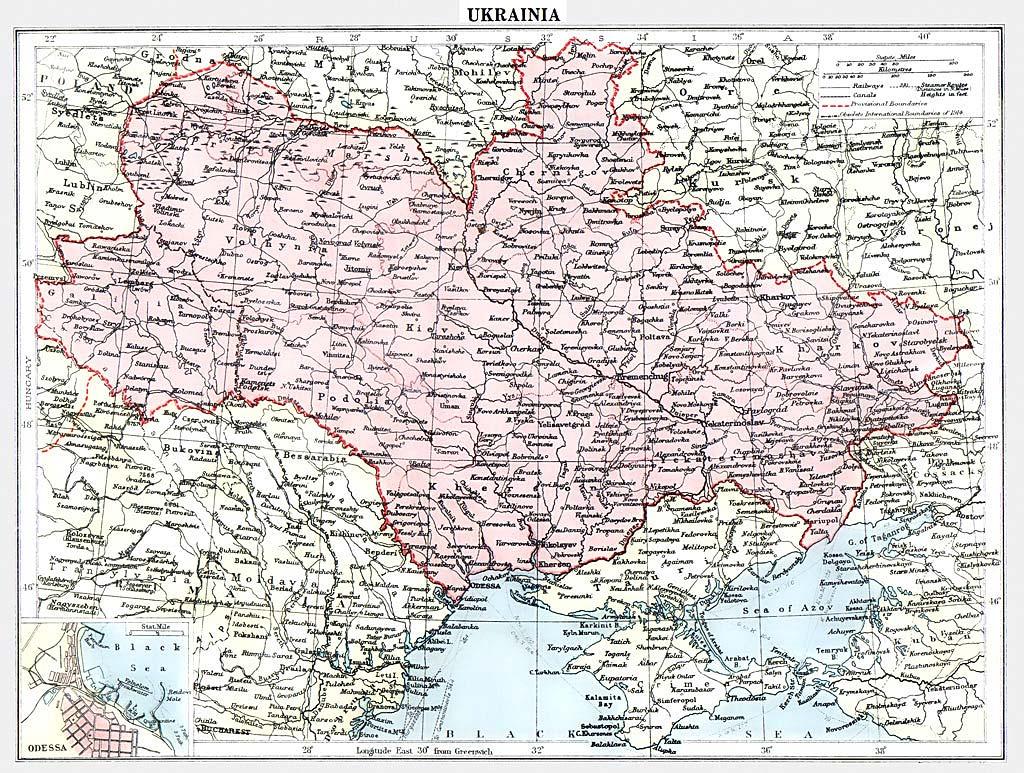 Карта украины подробно автомобильная маршруты