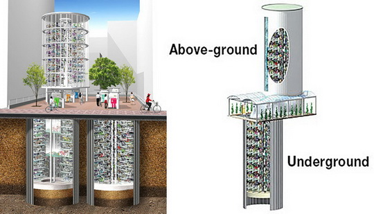 Появился новый мировой тренд – подземные велопаркинги. Видео