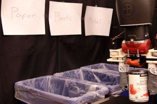 Создан робот для сортировки мусора