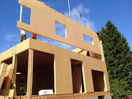 Новая технология строительства домов из CLT-панелей