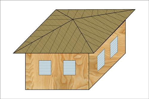 Классификация крыш. Шатровые, или четырехсатные крыши