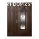 Входные двери со стеклом и ковкой в Украине
