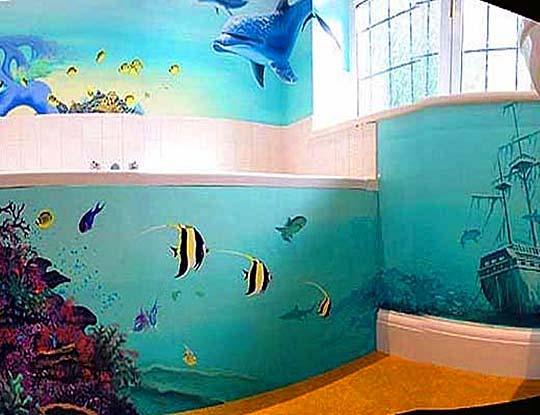16 лучших вариантов фотообоев в ванной комнате. Фото