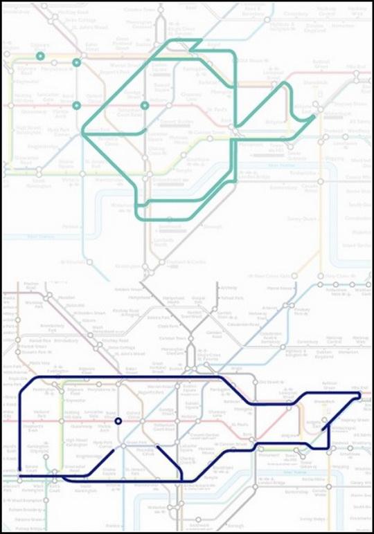 Курьезы: животные, которые «живут» на схеме Лондонского метро. Фото
