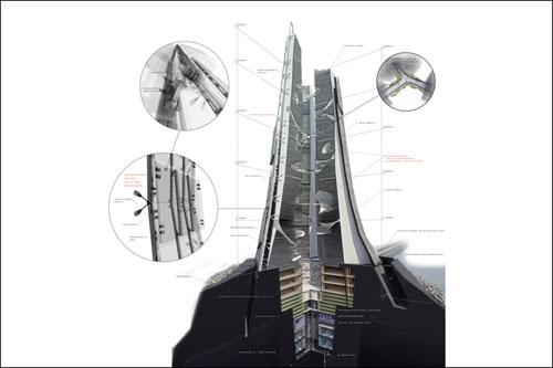 Запроектирован небоскреб, которому не страшны цунами