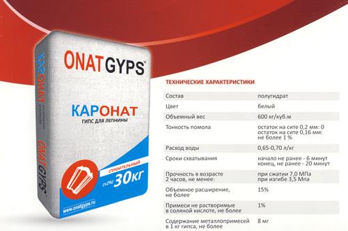 На рынок Украины выходят новые гипсовые смеси из Турции. Каронат
