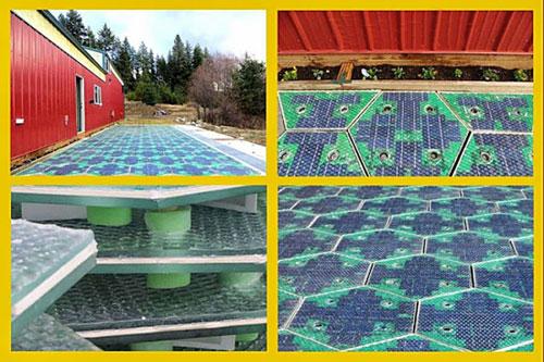 Первая в мире парковка на солнечных батареях