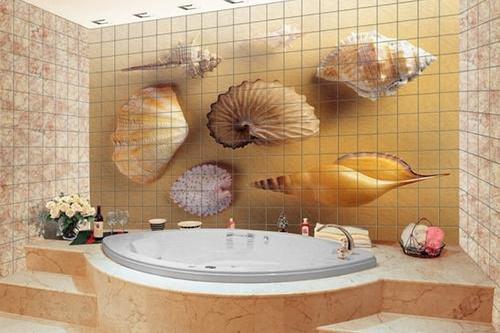 Как использовать фотоплитку в дизайне ванной комнаты