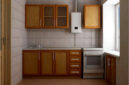 Дизайн кухни в «хрущевке»: как разместить газовую колонку. Видео