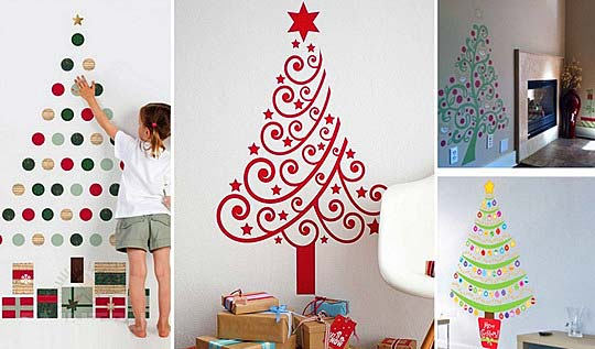 Лучшие настенные новогодние елки мира. Фото