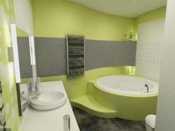 Подбор оттенка стен в ванной комнате