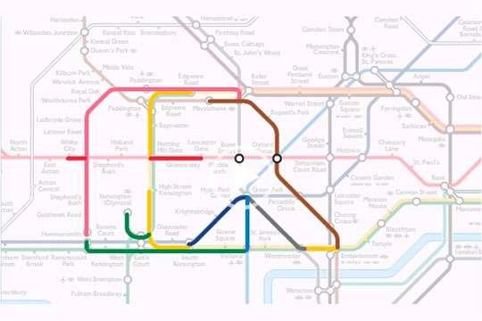 Приколы: животные на схеме Лондонского метро. Фото
