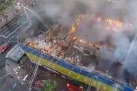 Кто поджег здание бывшего «Центрального гастронома» на Крещатике?