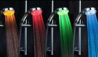 Что такое светодиодный душ. Фото и видео