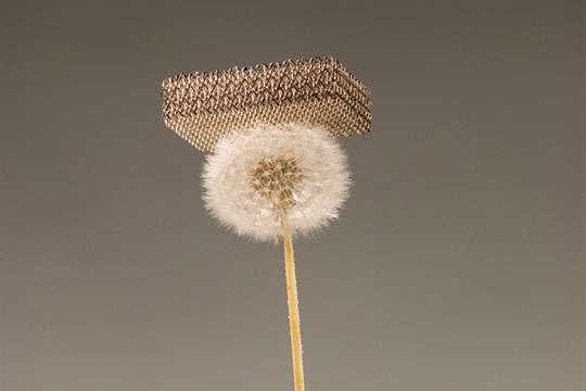 Новости нанотехнологий: создана металлическая микрорешетка