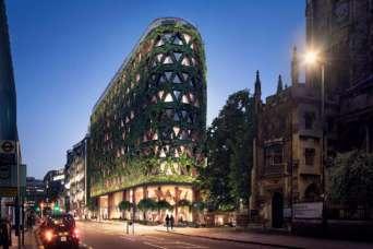 Самая большая зеленая стена Европы будет производить 6 т кислорода