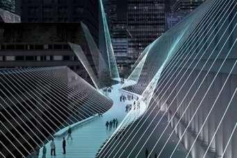 В Нью-Йорке спроектировали подвесной мост между небоскребами Манхэттена