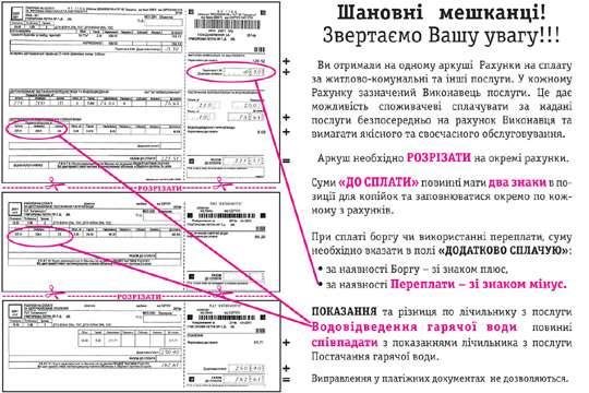 В Киеве меняются платежки