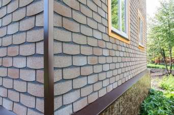 Битумная фасадная плитка: плюсы и минусы. Фото и видео