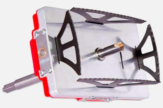 Появилась насадка на дрель для сверления прямоугольных отверстий. Видео