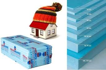 Как правильно утеплить дом, в зависимости от толщины листа пенополистирола