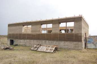 Как построить дом из арбомонолита. Видео
