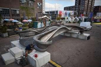 Первый стальной 3D-печатный мост в мире представили публике
