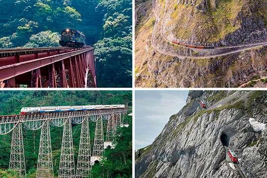 Курьезы: 10 самых экстремальных железнодорожных маршрутов мира. Фото