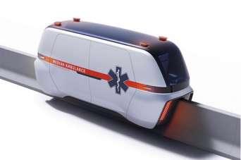 Предложен проект специальной капсулы скорой помощи для автомагистралей.  Фото