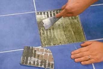 Как заменить одну плитку без разрушения остального покрытия