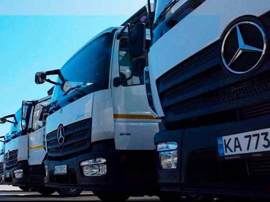 Украинский агрогигант получил большую партию грузовиков от компании Mercedes-Benz