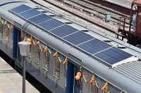 Запущен первый поезд в мире на солнечных батареях