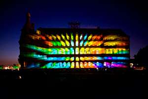 Новые технологии: танцующий свет и архитектура. Видео