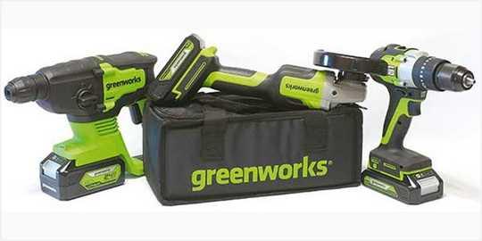 Новые 24-вольтовые аккумуляторные инструменты Greenworks: дрель-шуруповерт