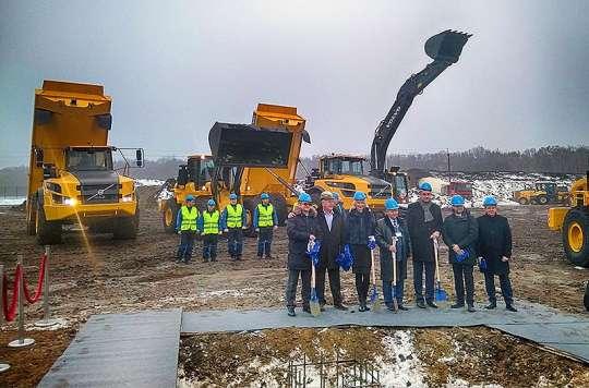 В Украине заложен крупнейший центр Volvo Construction