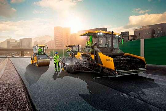 При строительстве украинских автодорог используются европейские инновационные технологии. Видео.  Часть 2