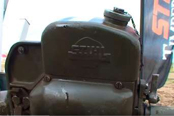 Курьезы: бензопила выпуска 1943 года до сих пор отлично работает. Видео