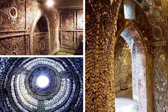 Кто и как построил подземный дворец, украшенный пятью миллионами морских раковин