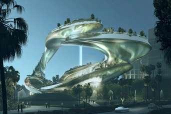 Дизайнеры спроектировали футуристический вертикальный парк