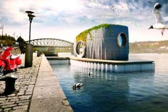 Асимметричный, плавучий 3D-печатный дом будет готов за сутки