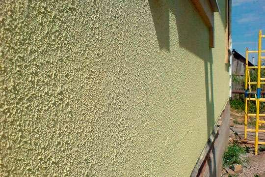 Фасады из фактурной штукатурки фото