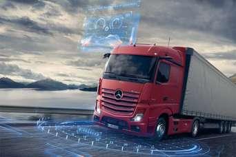 С 11 октября на дороги Украины вышли самые высокотехнологичные грузовики Mercedes-Benz Actros. Видео