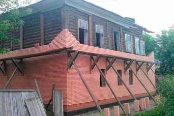 Как обложить дом из бруса кирпичом. Часть 1