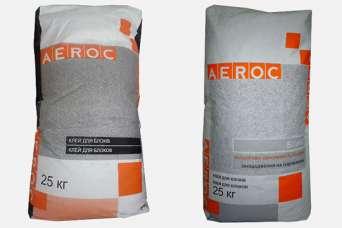 На рынке представлено два вида клея для газобетонных блоков