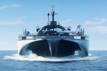 Создан беспилотный корабль-аккумулятор для доставки энергии с морских ветряков на сушу. Фото и видео