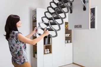 Как выбрать металлическую чердачную лестницу для очень высоких помещений