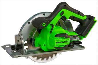 Аккумуляторная дисковая пила Greenworks GD24CS: конструкция