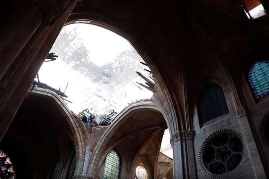 Как проходит восстановление Собора Парижской Богоматери. Видео