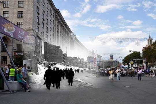 Как менялся Киев за последние 100 лет. Видео