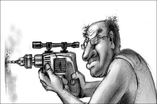 Курьезы: как в Индии впервые увидели перфоратор. Видео
